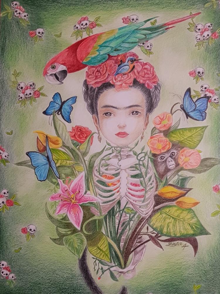 Frida Kahlo by anorhu